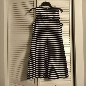 Old Navy Dresses - Black/white striped ponte sheath dress